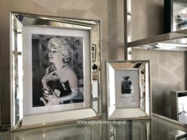 Spiegel Fotolijsten met standaard ZILVER