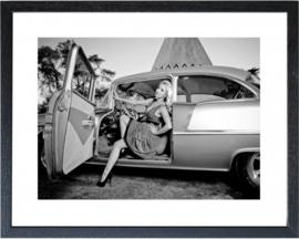 Fotolijst zwart-wit foto 'Car001'