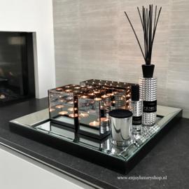 COMBI SET: Dienblad spiegel met accessoires