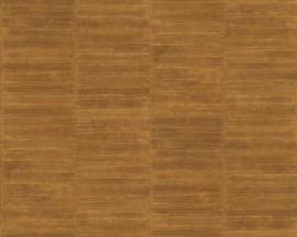 Exclusief palingleer behang motief - goud PAL406