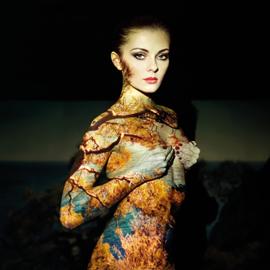 AluArt Kunstwerk - Glamour Portrait Woman