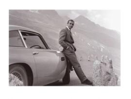 Fotolijst zwart wit foto Sean Connery