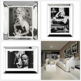 Spiegelfotolijsten met poster beroemdheden