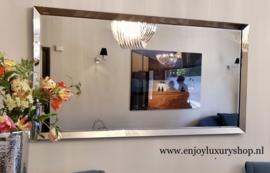 XL spiegel met spiegelrand BRONS of ZILVER (210x110)