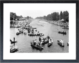 Fotolijst zwart-wit foto 'Roeivereniging'