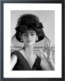 Fotolijst zwart-wit foto 'Vintage Lady'