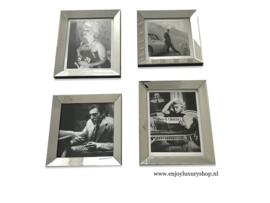 Fotowand 4x foto spiegellijst (collage AS)
