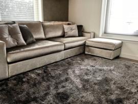 Luxe velours fluweel vloerkleed - Warm Grey (N15)
