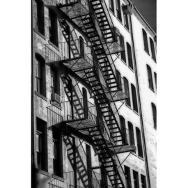 AluArt - New York facade with fire escape 80x120