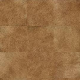 Exclusief vacht behang - midden bruin MV510