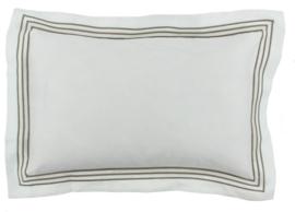 CLAUDI Dekbedovertrek KAIA - White/Taupe