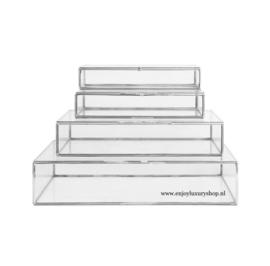 Glass Box Zilver - set 4 stuks