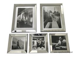 Fotowand 5x foto spiegellijsten (collage GS)