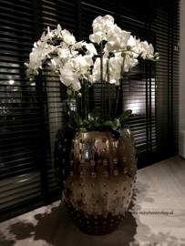 Pot brons opgemaakt orchideeën (M 67x54)
