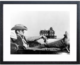 Fotolijst zwart-wit foto James Dean (M 40,5 x 50,5)