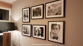 "Fotolijst zwart-wit foto Roger Moore ""Glass"""