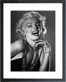 Fotolijst zwart wit foto Marilyn Monroe (4)