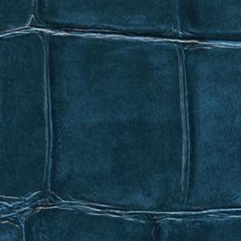 Exclusief Croco behang - blauw BC329