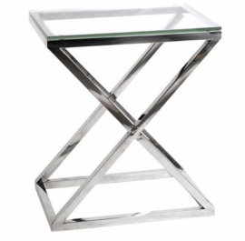 EICHHOLTZ Bijzettafel Side Table Criss Cross (hoog)