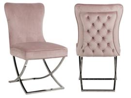 Luxury Eetkamerstoelen fluweel Pink (SC)