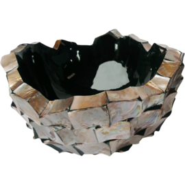 Schelpenvaas Bowl - bruin 40cm