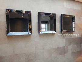 COMBI SET: 3x Spiegellijst (50x50) antraciet