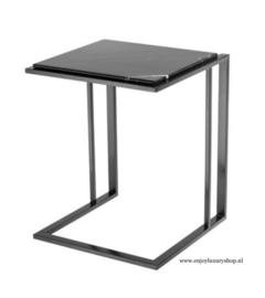 EICHHOLTZ Bijzettafel Side Table Cocktail zwart + Marmer