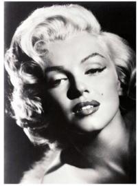 Spiegellijst met poster Marilyn Monroe | Glamour