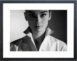 Fotolijst zwart wit foto Audrey Hepburn (2)