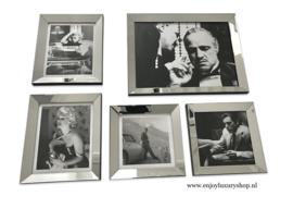 Fotowand 5x foto spiegellijsten (collage FS)
