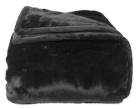 Bontplaid 'Jin' van Dôme Deco - kleur zwart
