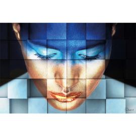 AluArt Kunstwerk - Girl Blue