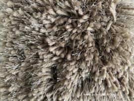Luxe vloerkleed hoogpolig - Taupe/Brons  (RD13)