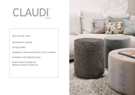 Luxe poufs van CLAUDI Chique