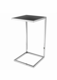 EICHHOLTZ Side Table Galleria (Black Glass/Nickel)