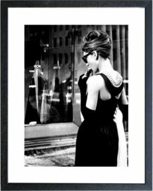 Fotolijst zwart wit foto Audrey Hepburn (3)