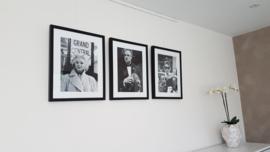Combiset 3x fotoprint zwart-wit ingelijst (A)