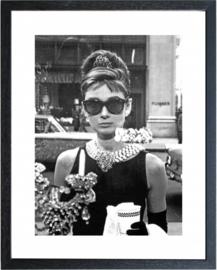 Fotolijst zwart wit foto Audrey Hepburn (1)