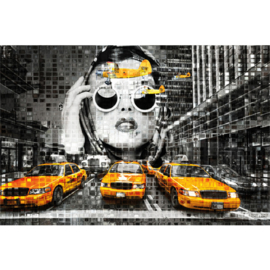 AluArt Kunstwerk - New York Yellow