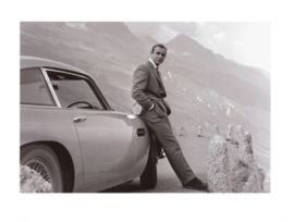 "Spiegellijst met James Bond ""Aston Martin"""