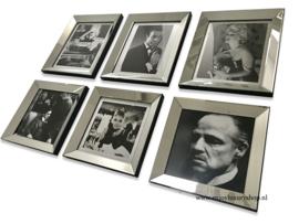 Fotowand 6x foto spiegellijsten (collage BS)