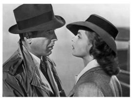 Spiegellijst met poster filmscene Casablanca