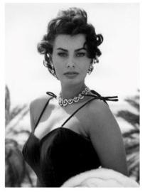 Spiegellijst met Sophia Loren portret