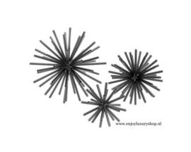 EICHHOLTZ Object Meteor set van 3 - zwart