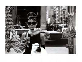 Spiegellijst Audrey Hepburn Window (90x70) horizontaal