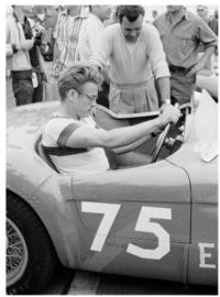 Spiegellijst met James Dean 'Race car'