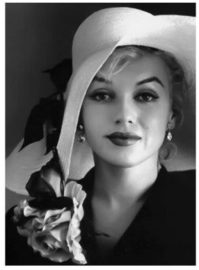 Spiegellijst met Marilyn Monroe with hat