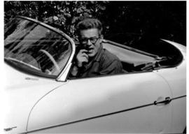 Spiegellijst met James Dean 'Driving'