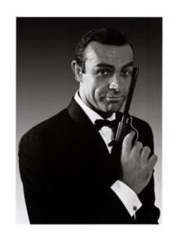 Spiegellijst met James Bond Pistool 1