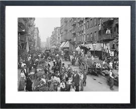Fotolijst zwart-wit foto 'Market'
